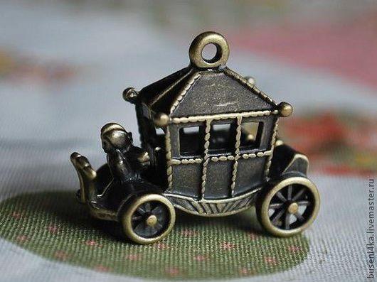 Для украшений ручной работы. Ярмарка Мастеров - ручная работа. Купить Подвеска Карета для Золушки 3D, античная бронза (1шт). Handmade.