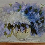 Картины и панно handmade. Livemaster - original item Picture of lilac bouquet