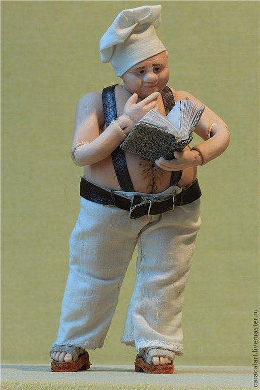 Коллекционные куклы ручной работы. Ярмарка Мастеров - ручная работа. Купить Скромняга Джерри. Фарфоровая шарнирная кукла. Handmade. Бежевый
