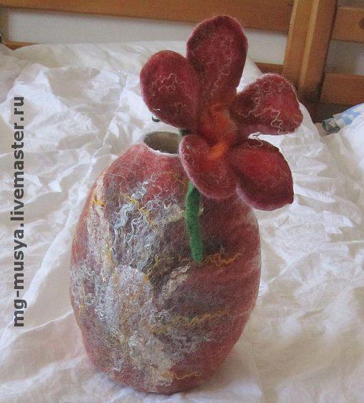 Вазы ручной работы. Ярмарка Мастеров - ручная работа. Купить Вазы и вазочки. Handmade. Шерсть, шёлк