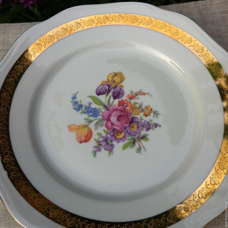 Decorative plate 'Flowers', Bohemia (Czechoslovakia), Vintage plates, Arnhem,  Фото №1