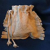 Фен-шуй и эзотерика ручной работы. Ярмарка Мастеров - ручная работа Мешочек для рун - кожа волка.. Handmade.