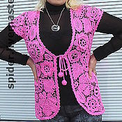 Одежда handmade. Livemaster - original item Vest pink. Handmade.