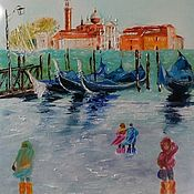 Pictures handmade. Livemaster - original item Venice. San Giorgio Maggiore. High water. Handmade.