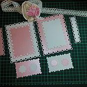 Материалы для творчества handmade. Livemaster - original item !Cutting scrapbooking Frames, tags, pearls, designer cardboard. Handmade.
