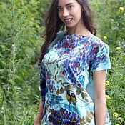 Одежда ручной работы. Ярмарка Мастеров - ручная работа Глицинии цветут Батик Блуза. Handmade.