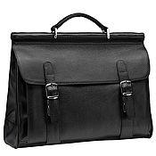 Сумки и аксессуары handmade. Livemaster - original item Leather briefcase Versailles (black). Handmade.