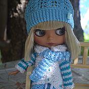 Куклы и игрушки handmade. Livemaster - original item Set of clothes for Blythe doll (Blythe). Cardigan, trousers, hat, scarf. Handmade.