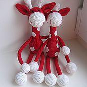Мягкие игрушки ручной работы. Ярмарка Мастеров - ручная работа Два жирафа. Handmade.
