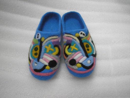 """Обувь ручной работы. Ярмарка Мастеров - ручная работа. Купить Тапочки """"фантазия"""". Handmade. Тапочки валяные, 100% шерсть"""