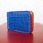 Сумки и аксессуары handmade. Livemaster - original item Wallet money clip crocodile leather. Handmade.