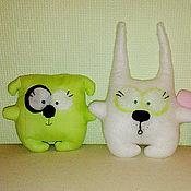 """Куклы и игрушки ручной работы. Ярмарка Мастеров - ручная работа мягкие игрушки """"Зайка"""", """"Мишка"""", """"Песик"""". Handmade."""