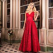 Одежда ручной работы. Ярмарка Мастеров - ручная работа Вечернее красное платье - Платье в макси длине. Handmade.