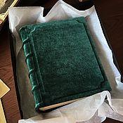 """Фотоальбомы ручной работы. Ярмарка Мастеров - ручная работа Фотоальбом """"Зеленый бархат"""" 20х25 см. Handmade."""