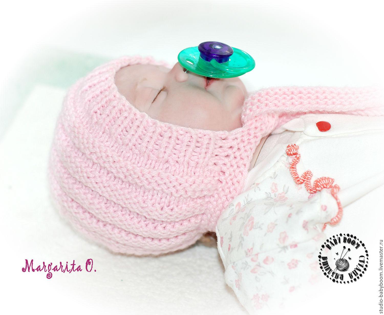 Вязание теплых шапочек на новорожденных