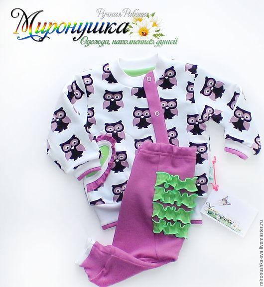 """Одежда для девочек, ручной работы. Ярмарка Мастеров - ручная работа. Купить Комплект """"В сказочном лесу"""". Handmade. Фиолетовый"""