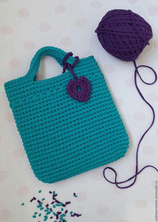 Стильная вязаная сумка Turquoise Bag от Malinka_Creations