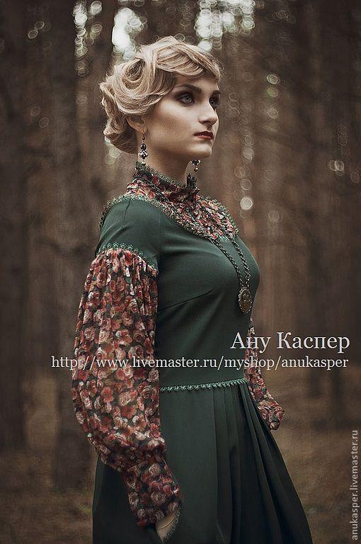 Платья ручной работы. Ярмарка Мастеров - ручная работа. Купить платье в пол. Handmade. Платье нарядное, зеленое платье