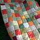 Текстиль, ковры ручной работы. Заказать Лоскутное одеяло. Арина. Ярмарка Мастеров. Интерьер, хлопок 100%, оливковый цвет