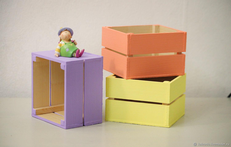 Ящик деревянный декоративный 3, Корзины коробы, Москва, Фото №1