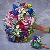 """Свадебный салон ручной работы. Ярмарка Мастеров - ручная работа Букет невесты, бутоньерка  """"Очарование"""". Handmade."""