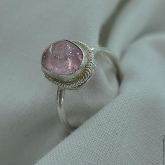 Кольца ручной работы. Ярмарка Мастеров - ручная работа. Купить Кольцо с турмалином Ангелок. Handmade. Бледно-розовый, кольцо с камнем