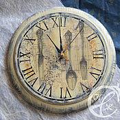 """Для дома и интерьера ручной работы. Ярмарка Мастеров - ручная работа Часы """"Столовый этикет"""". Handmade."""