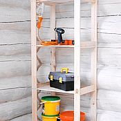 Для дома и интерьера handmade. Livemaster - original item Shelf-rack, wood/needles, collapsible, storage system. Handmade.
