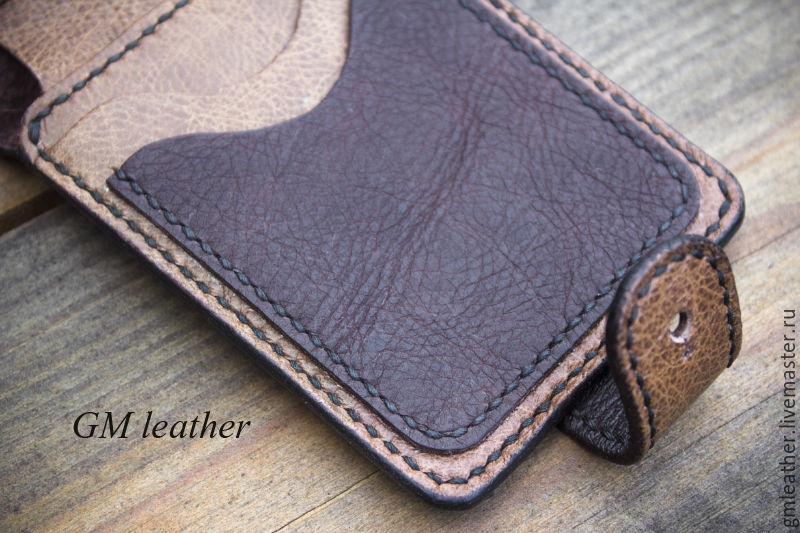 39b3c128899d Кошельки и визитницы ручной работы. Заказать Кошелёк из кожи буйвола.  Портмоне. GM Leather ...