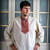 Русский стиль handmade. Livemaster - original item Men`s shirt in Slavic style. Handmade.