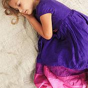 Работы для детей, ручной работы. Ярмарка Мастеров - ручная работа Фиолетовое платье для девочки. Handmade.
