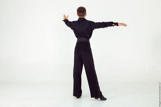 Танцевальные костюмы ручной работы. Ярмарка Мастеров - ручная работа. Купить Рубашка и брюки латина для мальчиков. Handmade. Чёрно-белый