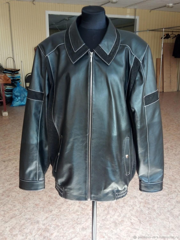 Мужская кожаная куртка арт.0750, Верхняя одежда мужская, Арзамас,  Фото №1