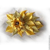 Украшения ручной работы. Ярмарка Мастеров - ручная работа Заколка-автомат Солнечный цветок. Handmade.