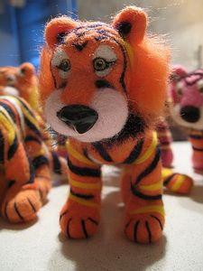 Игрушки животные, ручной работы. Ярмарка Мастеров - ручная работа. Купить Тигра. Handmade. Шерсть