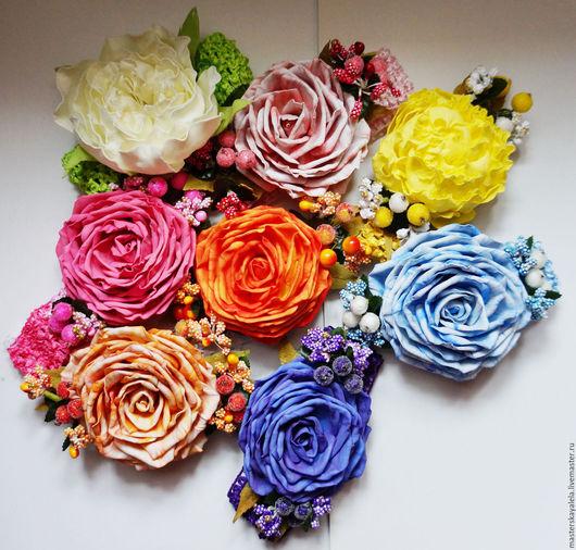Цветы ручной работы. Ярмарка Мастеров - ручная работа. Купить Повязка на голову роза из фоамирана. Handmade. Разноцветный, фом, ревелюр
