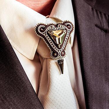 Украшения ручной работы. Ярмарка Мастеров - ручная работа Брошь на галстук Давид, подарок мужчине, для мужчин, мужские украшения. Handmade.