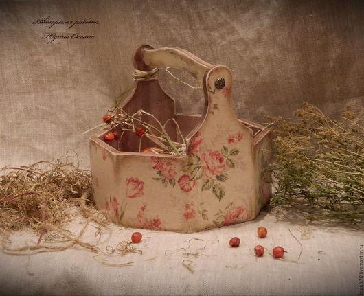 Короб ` Русский лён ` для яиц,лука,чеснока фруктов,для Пасхи.Авторская работа.Автор Юдина Оксана.