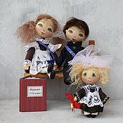 Куклы и игрушки ручной работы. Ярмарка Мастеров - ручная работа Последний раз сидим с тобой за партою.... Handmade.