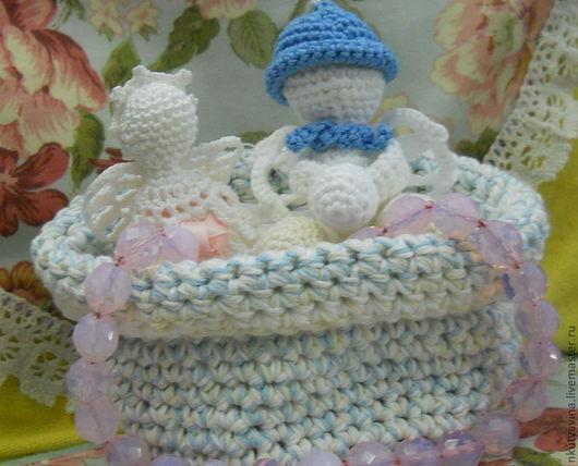 Подарки для новорожденных, ручной работы. Ярмарка Мастеров - ручная работа. Купить Ангелочки для детей.. Handmade. Белый, талисман, вязаный