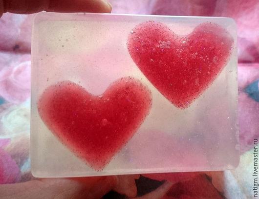 Мыло ручной работы. Ярмарка Мастеров - ручная работа. Купить Мыло Влюбленные сердца. Handmade. Мыло сердечко, розовый