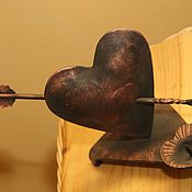 Подарки к праздникам ручной работы. Ярмарка Мастеров - ручная работа подсвечник стрела  амура. Handmade.