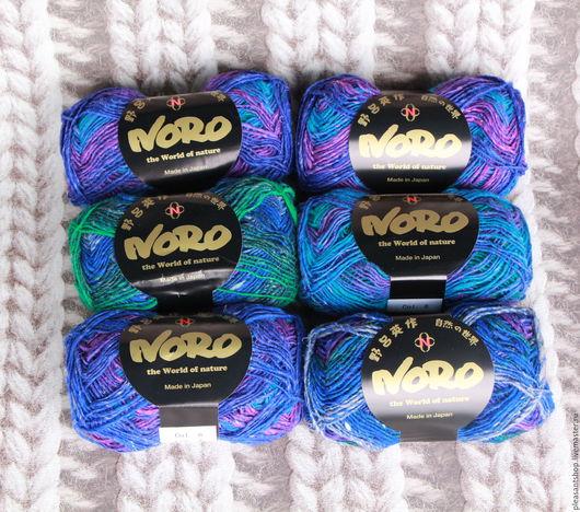Вязание ручной работы. Ярмарка Мастеров - ручная работа. Купить Noro Silk Garden 4 ply (8). Handmade. Синий