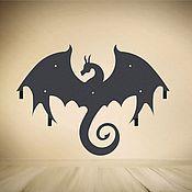 """Для дома и интерьера ручной работы. Ярмарка Мастеров - ручная работа Вешалка """"Черный дракон"""". Handmade."""