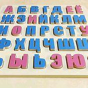 Мягкие игрушки ручной работы. Ярмарка Мастеров - ручная работа Деревянный алфавит. Handmade.