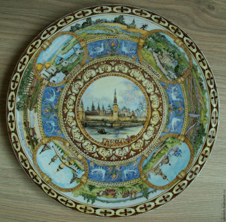Plates handmade. Livemaster - handmade. Buy porcelain dish, 'History of Russia'.Handmade, the history of russia