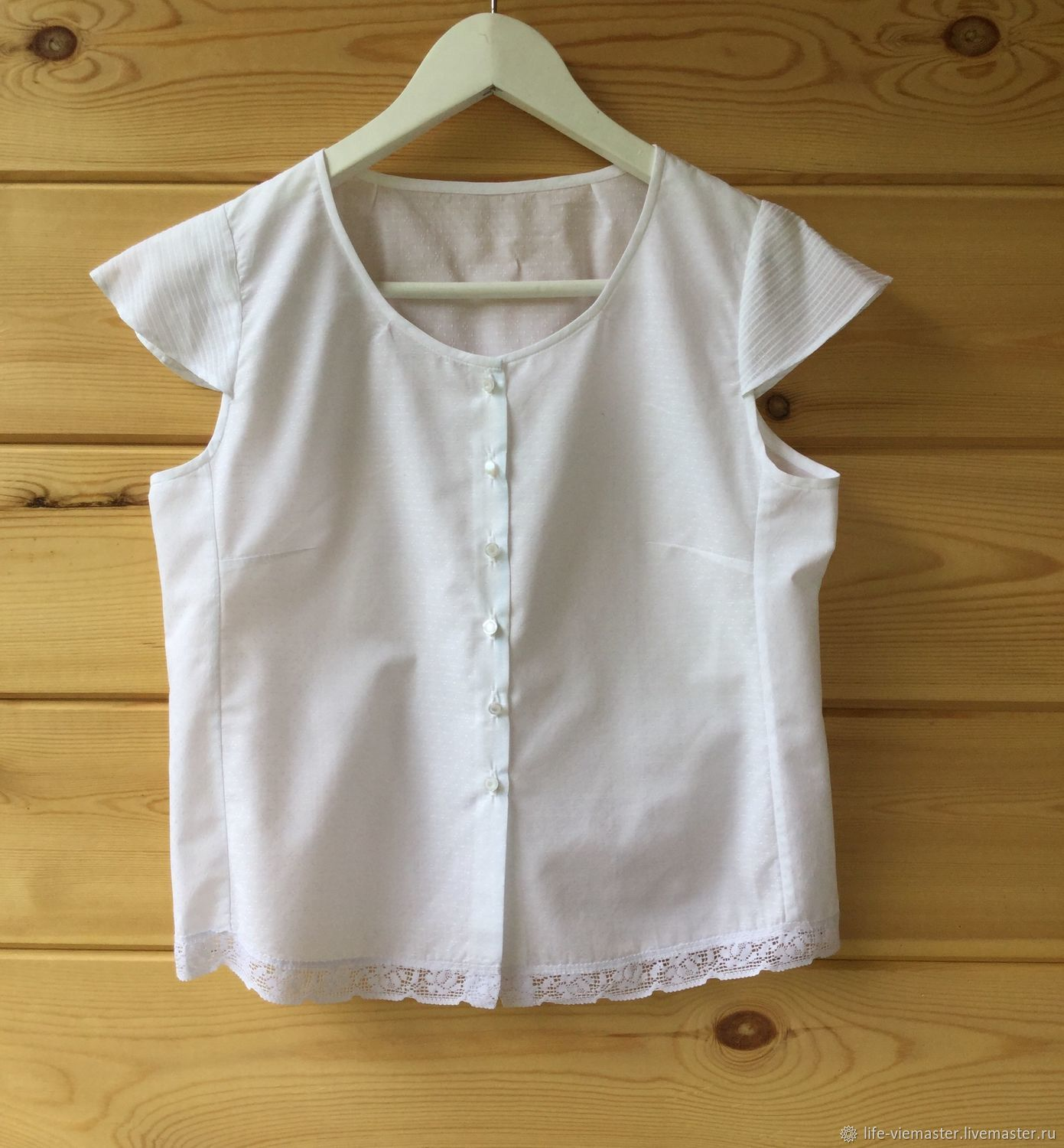 Cotton top ' Snow-white miracle», Tops, Altaic,  Фото №1