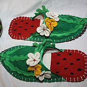 Обувь ручной работы. Ярмарка Мастеров - ручная работа Сочные Арбузы-султанки. Handmade.