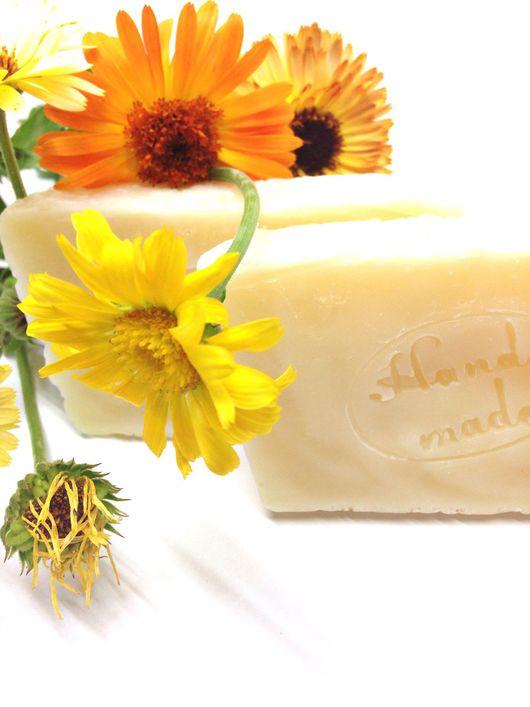 """Мыло ручной работы. Ярмарка Мастеров - ручная работа. Купить """"Живая календула"""" натуральное мыло ручной работы.. Handmade."""