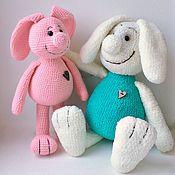 Куклы и игрушки ручной работы. Ярмарка Мастеров - ручная работа Пара влюблённых зайцев. Handmade.